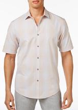 Alfani Ombré Plaid Shirt, Peachy Keen, Size LT, MSRP $60 - $29.69