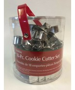 Wilton Holiday Cookie Cutter Set 18 Pieces Christmas Tree Bell Angel Bel... - $14.80