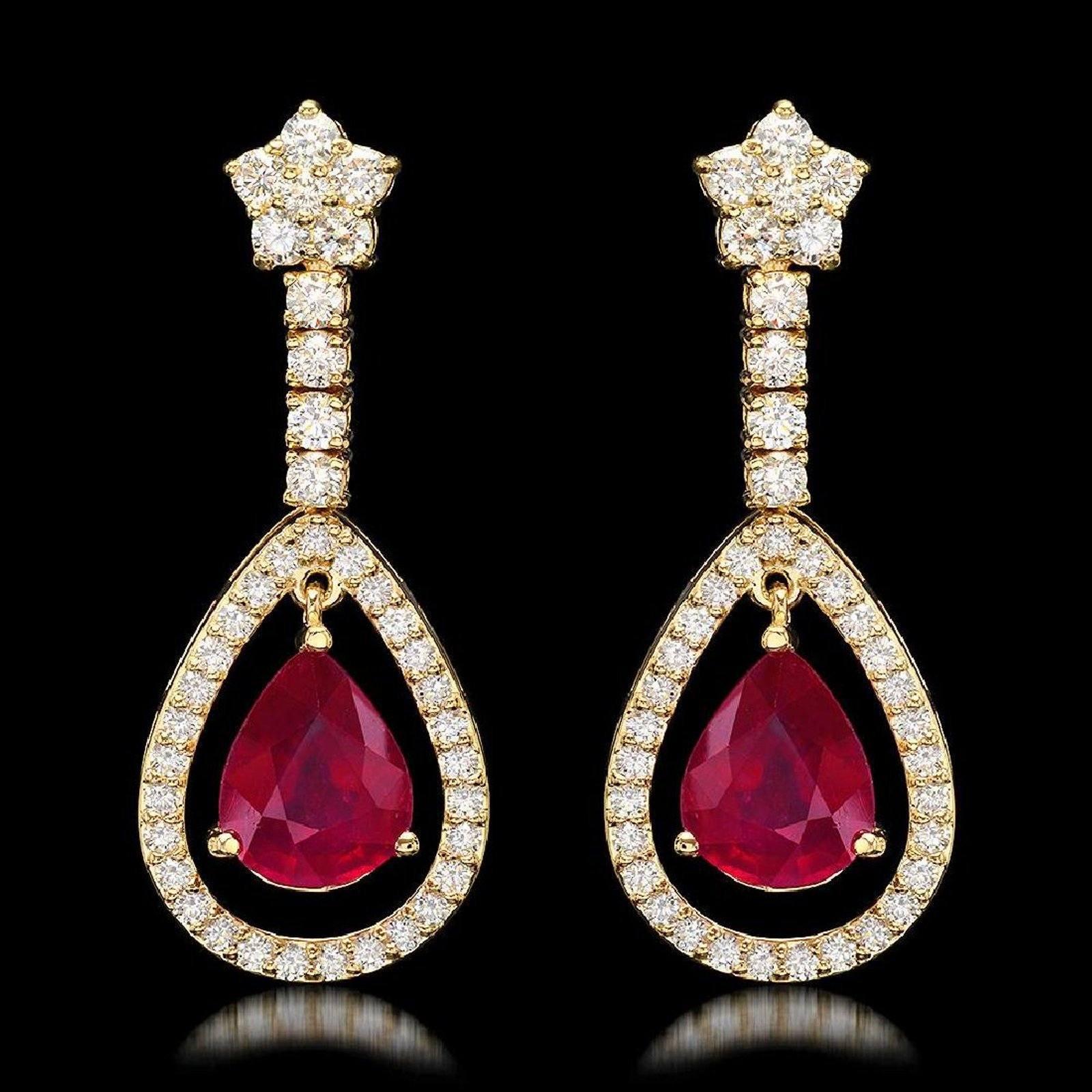 Ruby and diamond earrings5