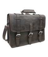 "Full Grain Leather 17"" MacBook Pro Bag - 18"" Full Leather Briefcase Back... - $368.00"