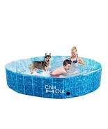 All for Paws Extra Large Dog Swimming Pool, Collapsible Pet Bathing Tub,... - $67.36
