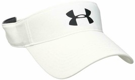 NEW! Under Armour Men's Headline 2.0 Adjustable/OSFA Visor-White/Black - $44.43
