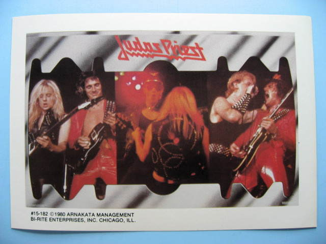 JUDAS PRIEST 1980 Mini-Poster Photo Sticker