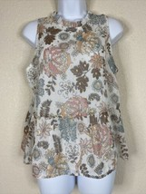 Ann Taylor LOFT Womens Size MP Floral Pattern Blouse Sleeveless - $14.85