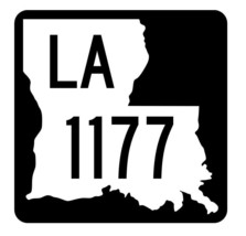 Louisiana State Highway 1177 Sticker Decal R6404 Highway Route Sign - $1.45+