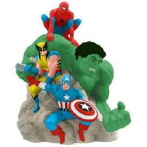 Marvel Comics Super Heroes 4 Figures Ceramic Cookie Jar, 2013 NEW UNUSED - $96.27