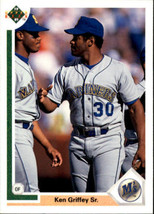 1991 Upper Deck #572 Ken Griffey Sr. w/ Ken Griffey Jr. > Seattle Mariners - $0.99