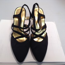 Apostrophé Katerina Black High Heel Evening Shoes Sz 6.5M