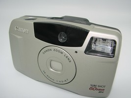 Canon Sure Shot 60 Zoom DATE SAF 35mm Film Camera w/Canon Zoom Lens 38-60mm - $13.51