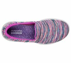 Skechers Shoes Purple Pink Go Walk Evolution Women's Sporty Casual Slip On 15759 image 5