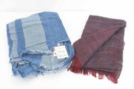 Lot of 2 - Cynthia Rowley Burgundy Scarf - BP Blue Scarf NWT 245 AC101B - $17.24