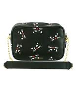 Lulu Guinness Amber Cross Body Bag Cat Logo Black & Chalk Leather Medium... - $359.53