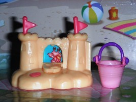 Beach Sand Castle Beach Pink Beach Pail fits Fisher Price Loving Family ... - $6.99