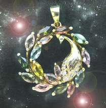 Haunted Necklace The Queen's Golden Wealth Cycles Perpetuate Magick Ooak Magick - $7,777.77