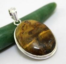 Tiger's Eye Silver Overlay Handmade Pendant Jewelry 17 Gr. Oj-394-36_128 - $5.39
