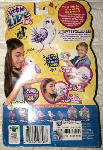Little Live Pets Bird - Princess Whispers - Secrets Keeper Key Ages 5+ NIP