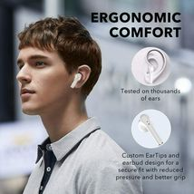 Wireless Earbuds Bluetooth 5.0 Integrated Microphone, IPX5 Waterproof image 4