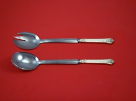 "Damask Rose by Oneida Sterling Silver Salad Serving Set Modern Custom 10 1/2""  - $149.00"