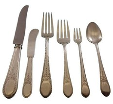 Early American Engraved by Lunt Sterling Silver Flatware Set 8 Service 60 Pcs - $3,650.00