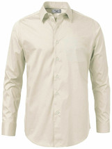 Boltini Italy Men's Long Sleeve Barrel Cuff Ivory Dress Shirt w/ Defect 2XL image 2