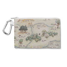 Hundred Acre Wood Map Winnie The Pooh Inspired Canvas Zip Pouch - $14.99+