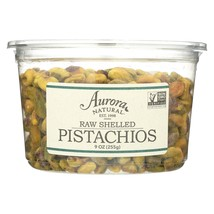 Aurora Natural Products - Raw Shelled Pistachios - Case of 12 - 9 oz. - $140.99