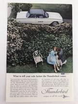 Thunderbird 1963 Vtg Print Ad Couple In The Garden - $10.64