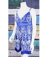 New INC International Concepts Medium M Macy's Blue Silver Floral Tie Ba... - $29.69