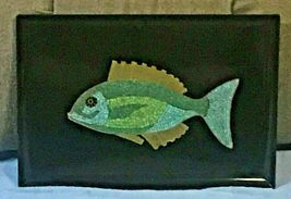 "EAMES ERA MID CENTURY MODERN-- COUROC MOSAIC FISH TRAY 18"" X 12 1/2""  - $149.95"