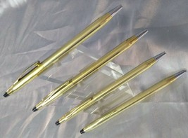 CROSS 10 kt Rolled Gold Ballpoint Pen 4 Pc Extra Refills Included - $110.98
