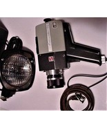 Vintage Anscomatic Super 8 Movie Camera & Atlas Warner Super 8 Movie Lig... - $85.00
