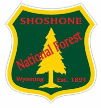 Shoshone National Forest Sticker R3309 Wyoming You Choose Size - $1.45+