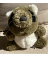 "Vintage Plus RUSS Berrie Racoon ROLLO Small 6"" Made In Korea - $10.99"
