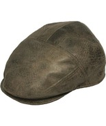 Henschel Faux Leather Ivy New Shape Sweatband And Cotton Lining Brown Gray - $50.00