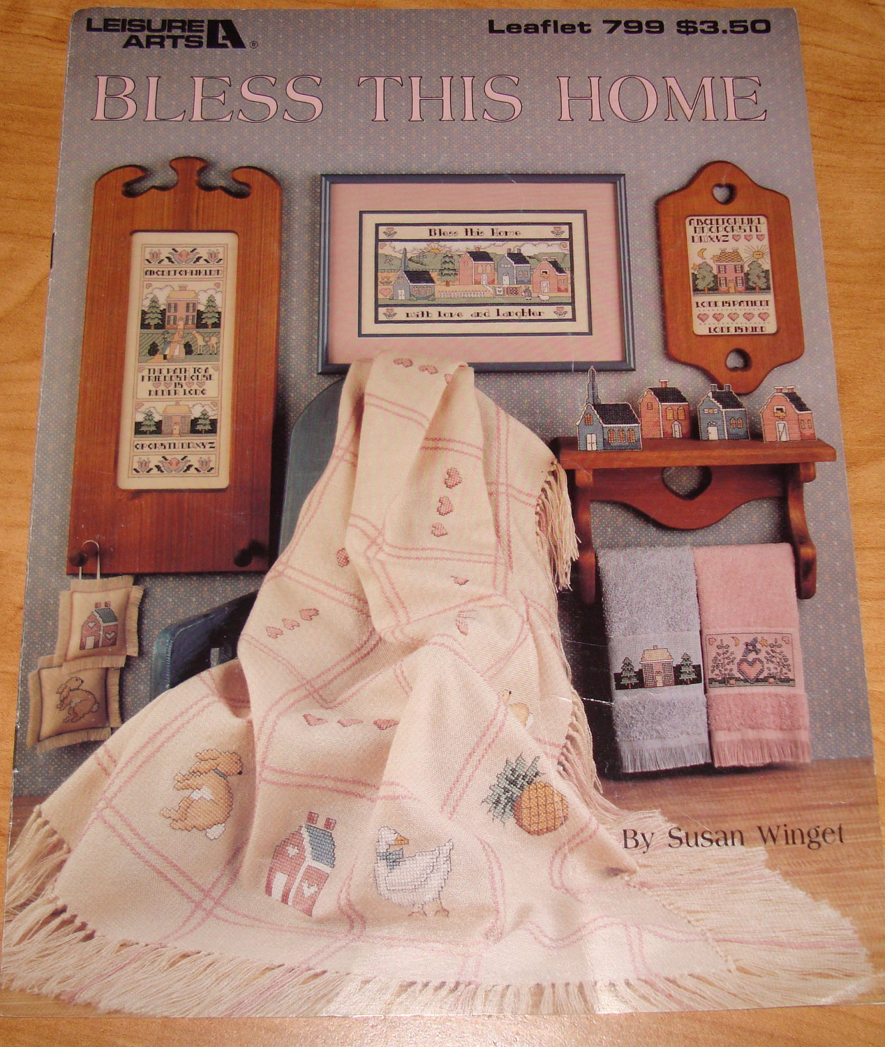 "Cross Stitch Pattern Leaflet "" Bless This Home"" Used"