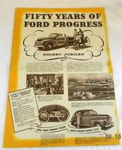1946 ford sales brochure 50 years convertible sedan truck wagon  - $29.99