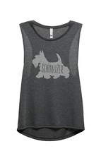 Thread Tank Schnauzer Dog Silhouette Women's Sleeveless Muscle Tank Top ... - $24.99+
