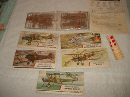 Airfix revell model Airplene parts instructions Italy planes - $19.79