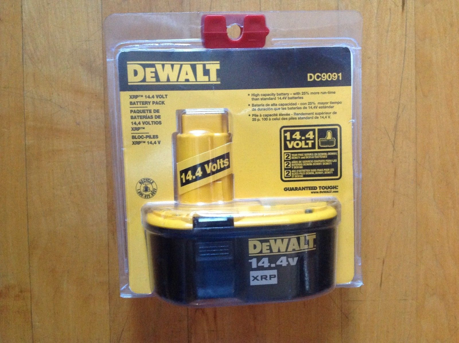 DeWALT DC9091 14.4V 2.4 Amp Hour XRP Cordless Tool Rechargeable Battery New image 5