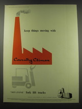 1957 Coventry Climax Sky-zone Fork lift trucks Ad - keep things moving w... - $14.99