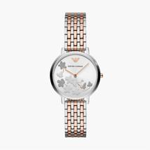Emporio Armani Plata y Tono Oro Rosa Sunray 31mm Esfera Reloj AR11113 - $230.16