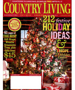 COUNTRY LIVING Magazine - Holidays December Issue 2007 - $6.00
