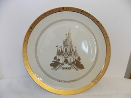Walt Disney World Gold Rimmed Characters Collectors Plate  - $75.00