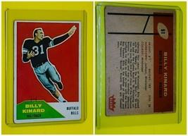 Vintage Billy Kinard 1961 Fleer Football Card #51 Buffalo Bills GD-VG Crease - $2.76