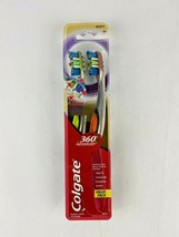 Colgate 360 Advance Whole Mouth Clean Zone 2 Toothbrushes SOFT Bristles NEW - $9.99