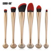 golden black MAANGE Pro 6pcs/set New Shell Makeup Brushes Tool Kits Blush A - $36.00