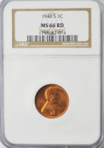 1946 S 1c Lincoln Wheat Cent NGC MS 66 RD Beautiful Uncirculated Coin  - $26.72