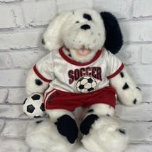"Build A Bear Dalmatian Plush Dog 16"" Black White Spots Collar With Socce... - $12.19"
