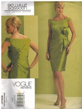 1108 Uncut Vogue-Schnittmuster Misses Gefüttert Gerade Kleid Bellville S... - $12.99