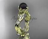 Llow gold  tahitian black pearl   diamond wedding band  diamond engagement ring  1 thumb155 crop